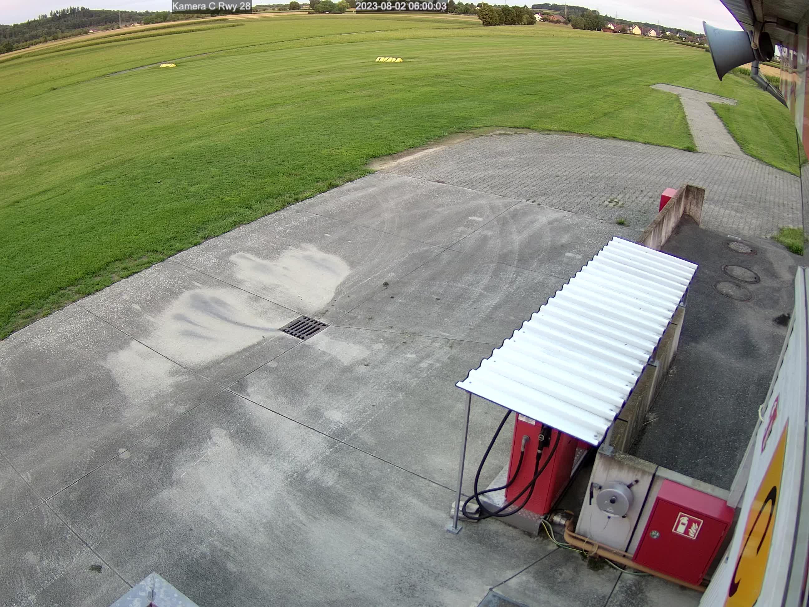 Webcam-Bild in Richtung Westen, Piste 28